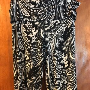 Paisley wide leg flow-y pants